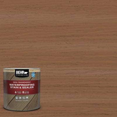 1 qt. #ST-152 Red Cedar Semi-Transparent Waterproofing Exterior Wood Stain and Sealer