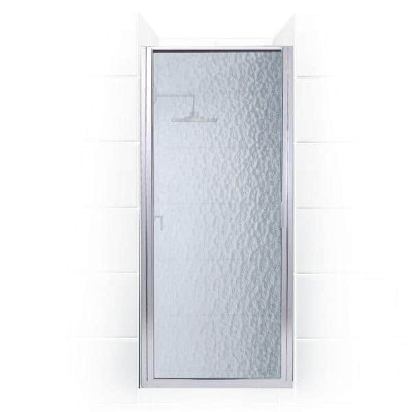 Coastal Shower Doors Paragon 34 In To 34 75 In X 70 In Framed Continuous Hinged Shower Door In Chrome With Aquatex Glass P34 70b A The Home Depot