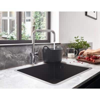 Talis N 1-Handle Deck Mount Standard Kitchen Faucet with QuickClean in Polished Nickel