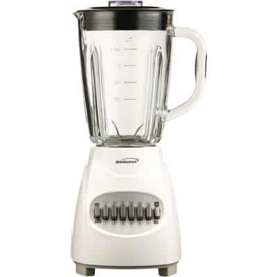 42 oz. 12-Speed Blender with Glass Jar in White