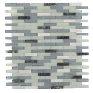 Cleveland Bendemeer Mini Brick 10 in. x 11 in. x 8 mm Mixed Materials Mosaic Floor and Wall Tile