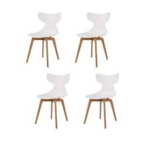 Whale Leisure White Dining Chair (Set of 4)