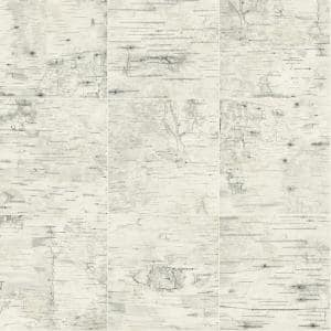 Champlain Cream Grid Wood Cream Wallpaper Sample
