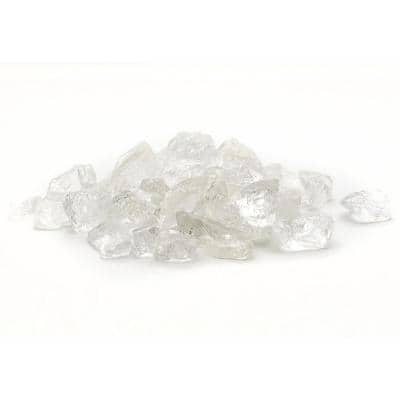 1/2 in. 20 lb. Medium Ice Clear Landscape Glass