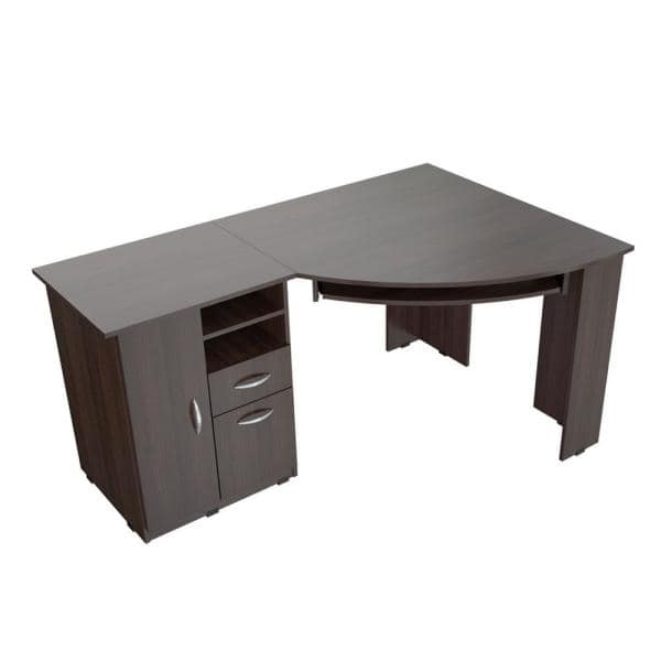 Inval 59 45 In Espresso Wengue Corner, Images Of Corner Computer Desks