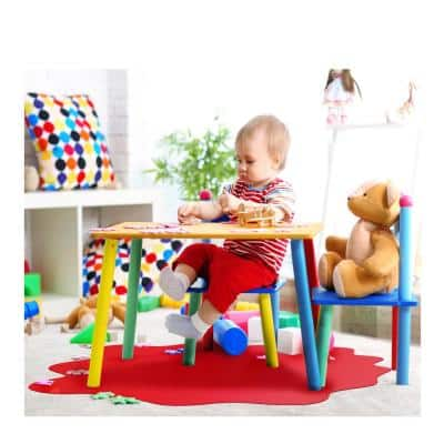 "Floortex® Red Multi-Purpose Mat for Carpets - 40"" x 40"""