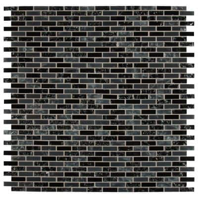 Glissen Black mosaic adds a dash of contemporary style