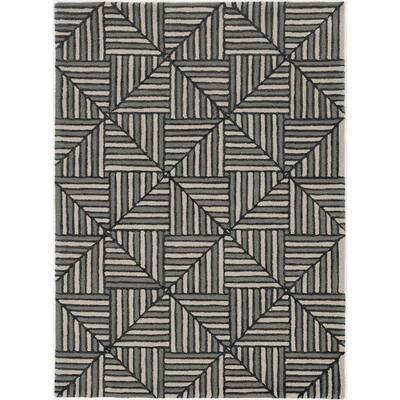 Upton Navy/Charcoal Diagonal Tile 5 ft. x 7 ft. Area Rug