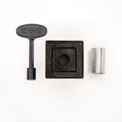 Universal Square Flange 1/2 in. and 3/4 in. Gas Valve (Includes Bushing, Allen Wrench and 3 in. Valve Key) in Flat Black