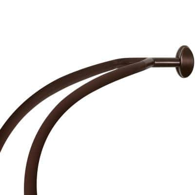 45 in. to 72 in. Aluminum Double Curved Shower Curtain Rod in Bronze