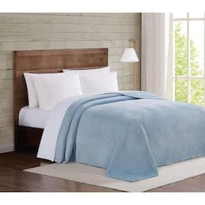 Light Blue Velvet Plush Full/Queen Blanket