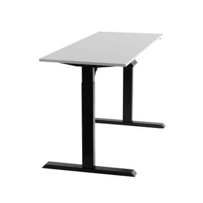 60 in. Black/White Electric Standing Desk with Adjustable Height and Memory Settings - Motorized Workstation