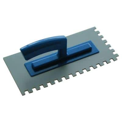 3/8 in. x 3/8 in. Plastic Trowel for Thin-Setting Tile Directly over Floor Heating Mats
