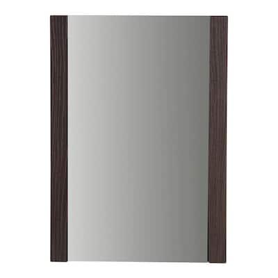 20 in. W x 28 in. H Framed Rectangular Bathroom Vanity Mirror in Elm Ember