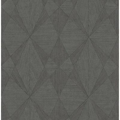 Intrinsic Dark Grey TextuRed Geometric Dark Grey Paper Strippable Roll (Covers 56.4 sq. ft.)