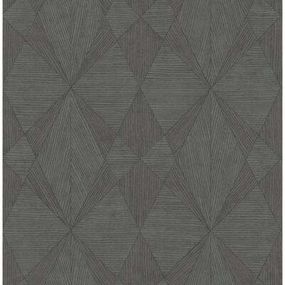 Intrinsic Dark Grey Textured Geometric Dark Grey Wallpaper Sample