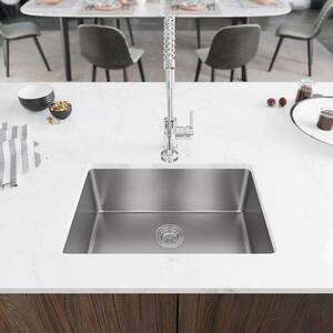 Undermount Stainless Steel 26 in. Single Basin Kitchen Sink Kit
