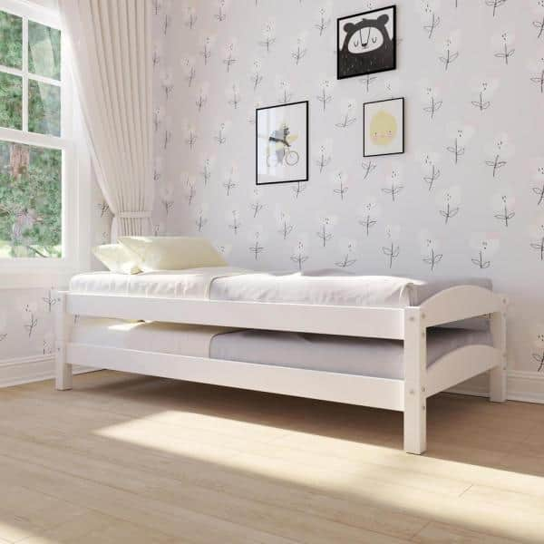Dorel Living Opus White Stackable Twin