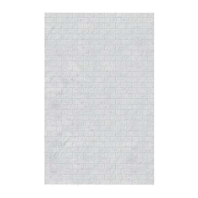 Subway Tile 62 in. x 96 in. 1-Piece Easy Up Adhesive Shower Panel in Tundra