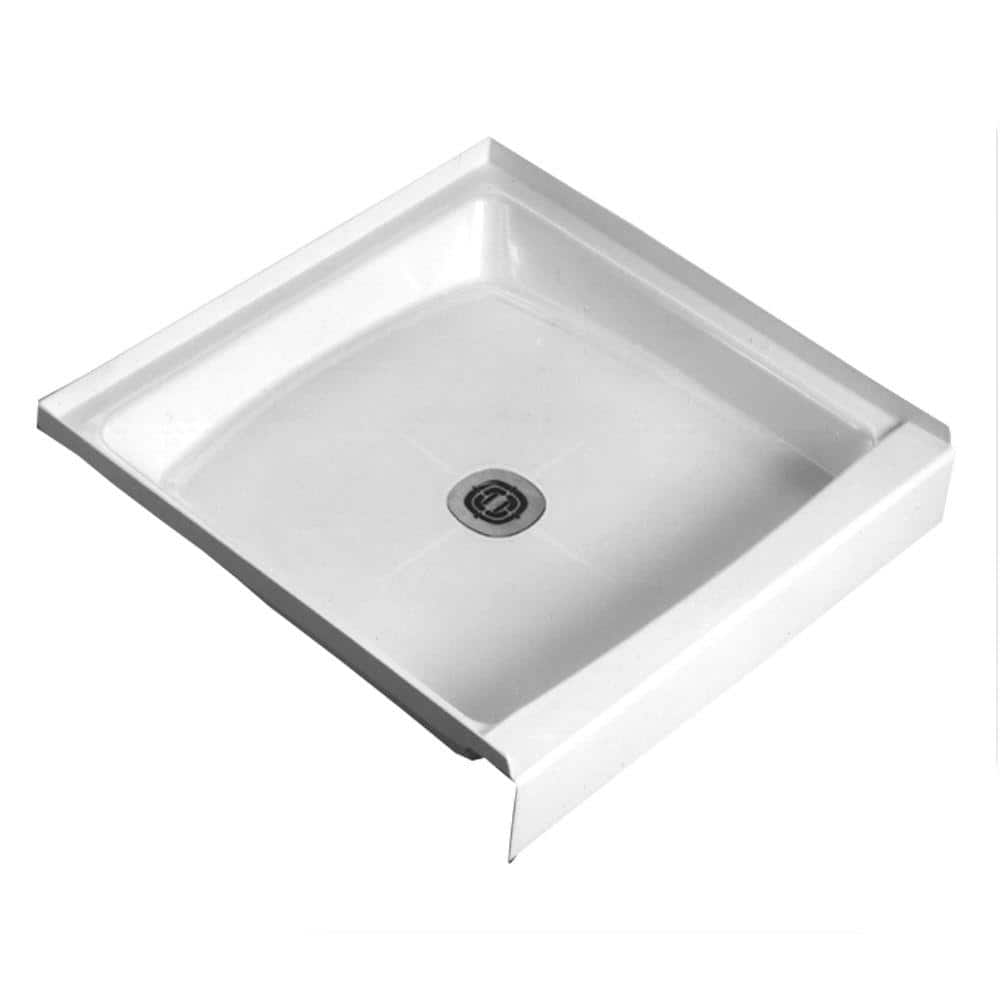 Fiat Cascade 34 1 4 In X 34 1 4 In Single Threshold Shower Floor In White 34wl100 The Home Depot