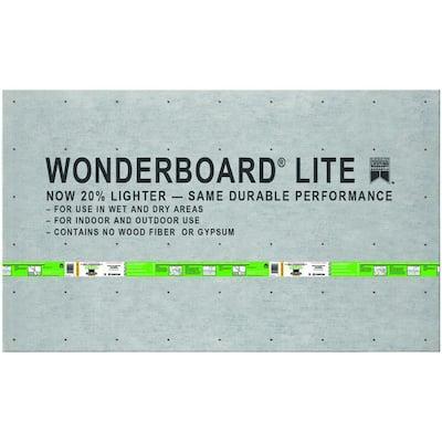 WonderBoard Lite 5 ft. x 3 ft. x 1/4 in. Backer Board