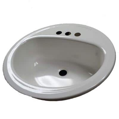 Laurel Round Drop-In Bathroom Sink in White