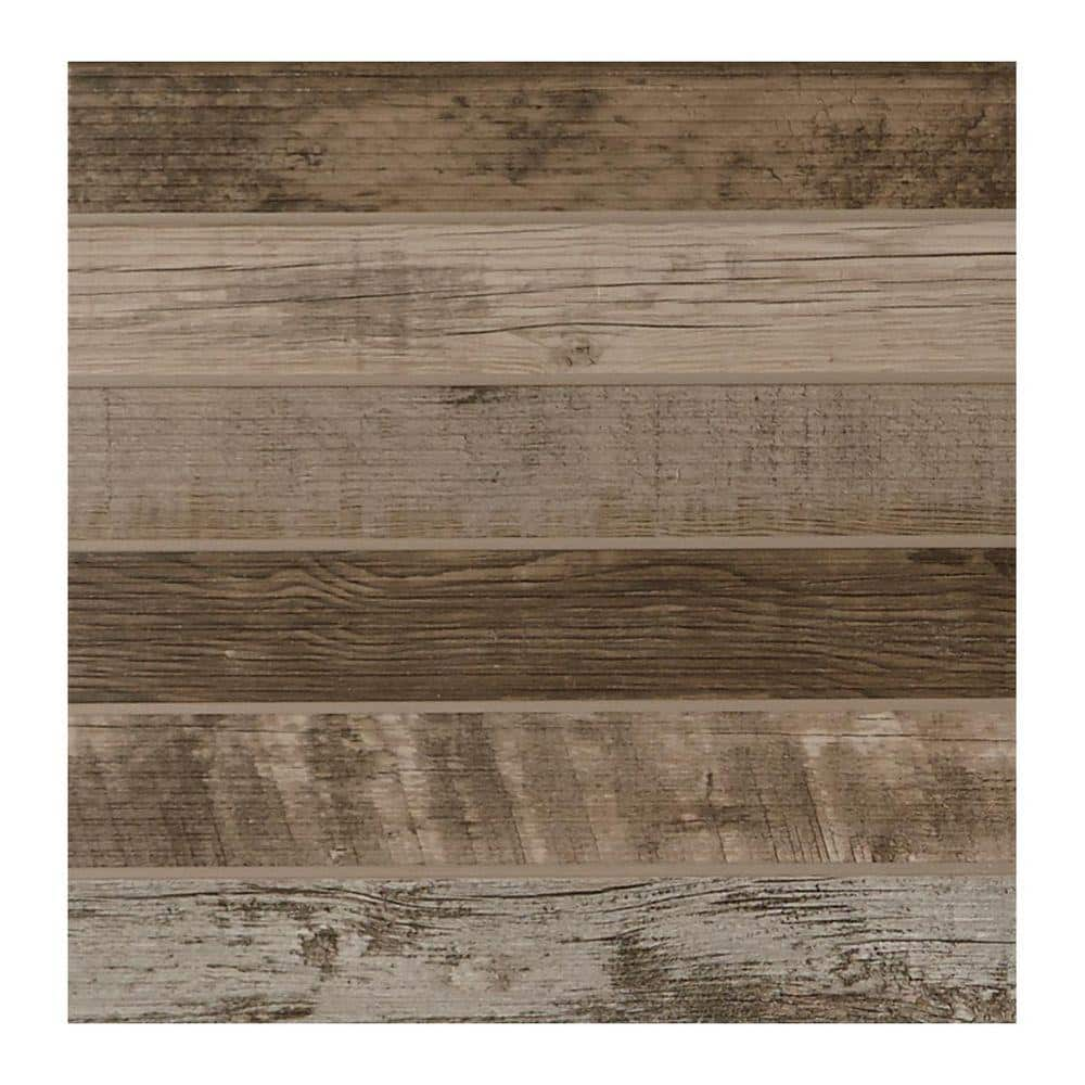 daltile modern outdoor living weathered wood 18 in x 18 in glazed porcelain floor and wall tile 17 60 sq ft case ml081818hd1p6 the home