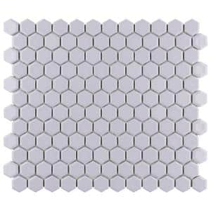 Metro Hex 1 in. Glossy Lavender 10-1/4 in. x 11-7/8 in. Porcelain Mosaic Tile (8.65 sq. ft./Case)