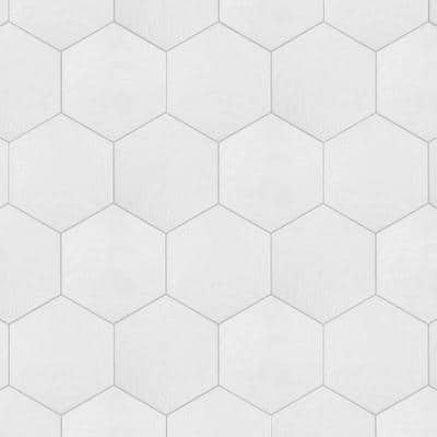 Gaudi Hex White 8-5/8 in. x 9-7/8 in. Porcelain Floor and Wall Tile (11.56 sq. ft. / case)