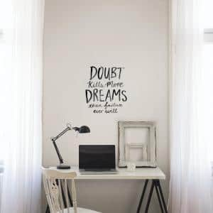 Black Dream More Wall Decal