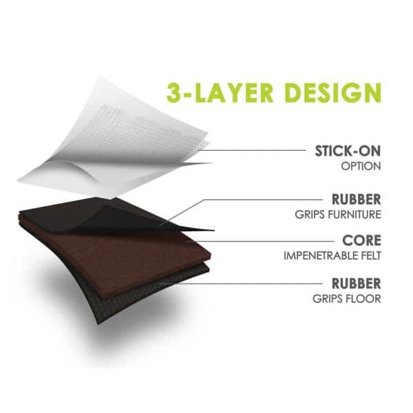 Slipstick Gorillapads 4 In 3 Layer, Pads For Furniture Legs Home Depot