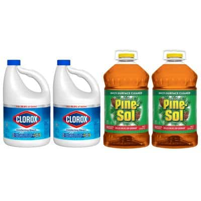 121 oz. Regular Concentrated Liquid Bleach (2-Pack) and 144 oz. Original Multi-Surface Cleaner Bundle (2-Pack)