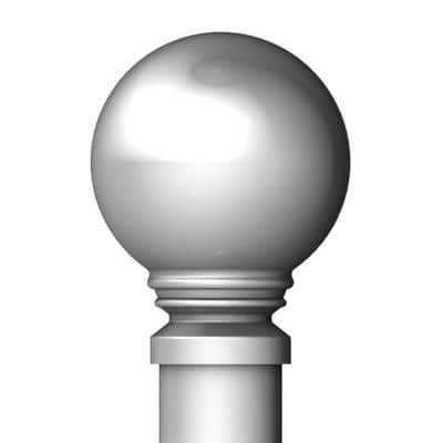 48 in. - 84 in. Telescoping 5/8 in. Single Curtain Rod Kit in Brushed Nickel with Ball Finial