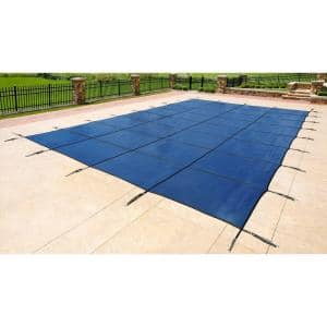 16 ft. x 32 ft. Rectangular Blue In-Ground Safety Pool Cover