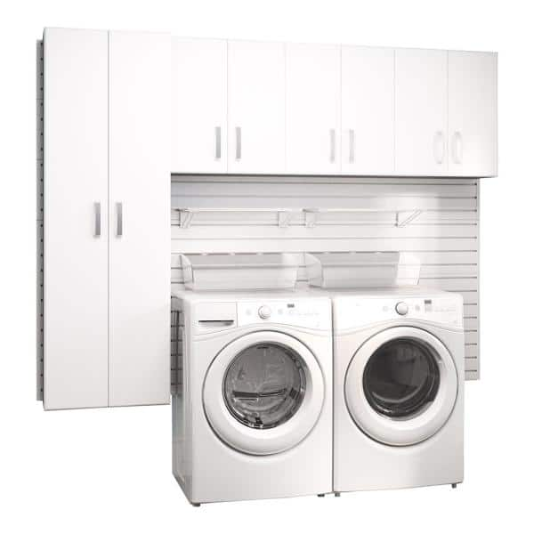 Flow Wall Modular Laundry Room Storage, White Wall Cabinets For Laundry Room