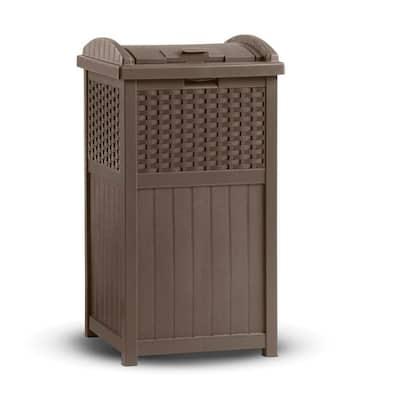 Resin Wicker Trash Hideaway