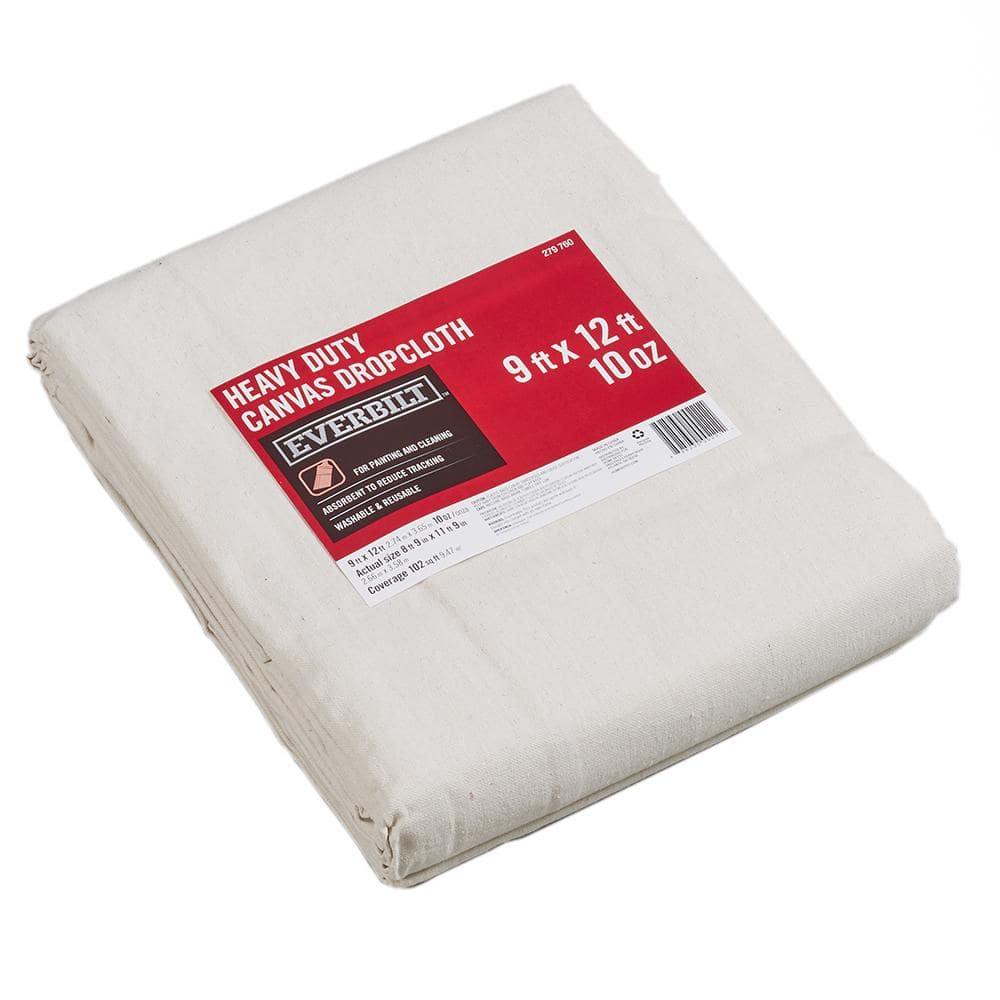 Everbilt 9 Ft x 12 Ft Heavy Duty Canvas Drop Cloth