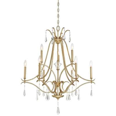 Laurel Estate 9-Light Brio Gold Chandelier