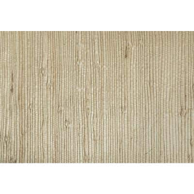 Martina Beige Grasscloth Non-Pasted Wallpaper Roll (Covers 72 Sq. Ft.)