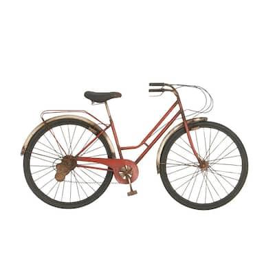 Iron Red Bicycle Metal Work