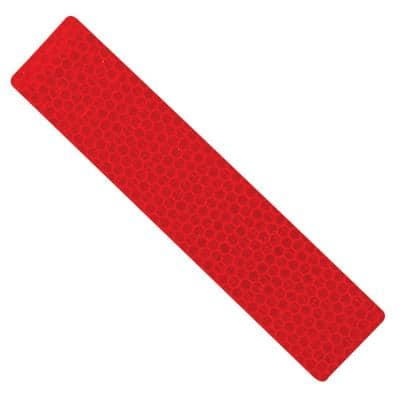 1.25 in. x 6 in. Red Reflective Safety Strips