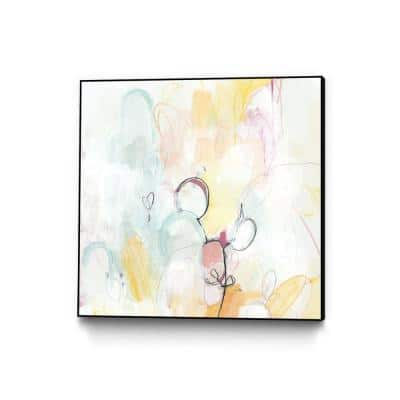"""20 in. x 20 in. """"Quarter Note I"""" by June Erica Vess Framed Wall Art"""