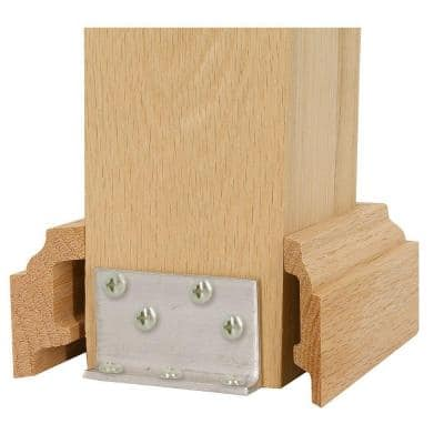 3 in. x 3 in. Unfinished Poplar Newel Attachment Kit