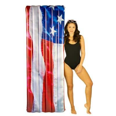 COPY-0, 74 in. Inflatable Stars and Stripes Deluxe RealPrint Raft