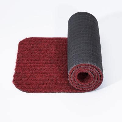 Scrape Rib Collection Red 8 in. x 30 in. Black Latex Back Stair Tread Cover (Set of 14)