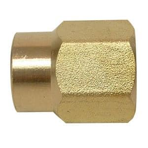 1/2 in. x 3/8 in. FIP Brass Reducing Coupling Fitting
