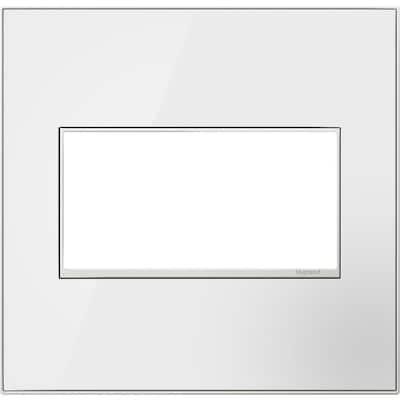 adorne 2 Gang Decorator/Rocker Wall Plate, Mirror White (1-Pack)