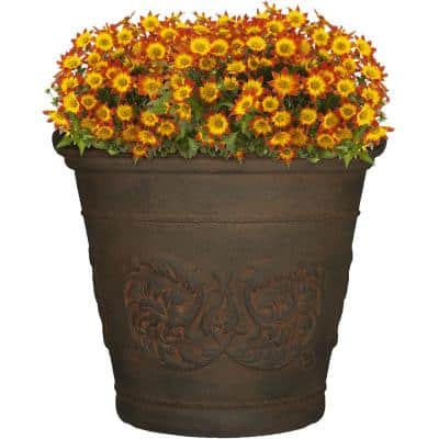 20 in. Sable Arabella Poly Single Flower Pot Planter