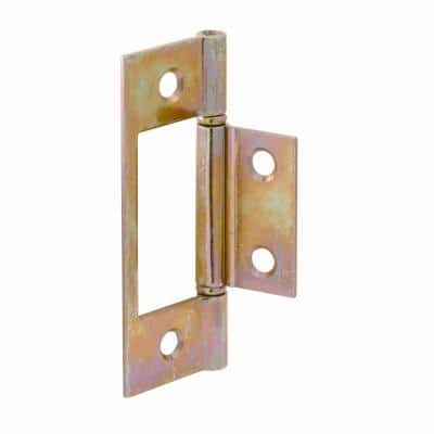 Bi-Fold Door Hinges, Non-Mortise Style, Brass Plated (2-pack)