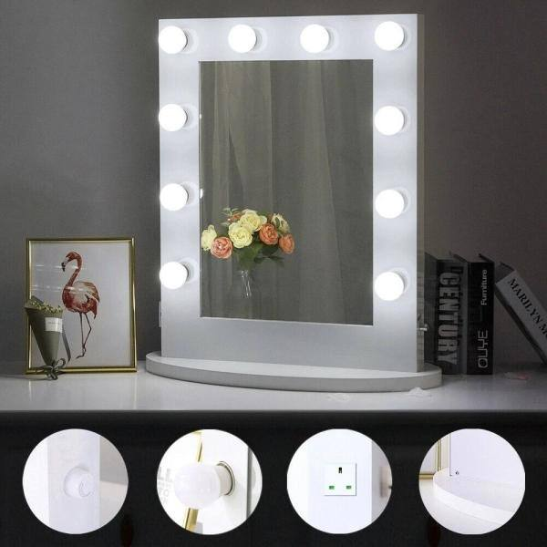 Boyel Living 22 In W X 26 H Framed, Home Depot Bathroom Mirror With Lights